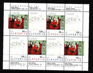 D1-Slovenia-Sc#171a-unused NH sheet of 4 pairs-Paintings-Con