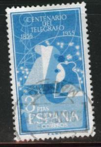 SPAIN Scott 841 Used from 1955 Telegraph set