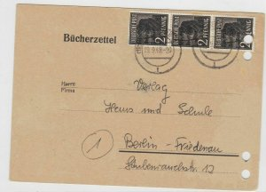 German Postal History Stamps Postcard Ref: R5113