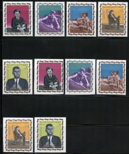 YEMEN JOHN KENNEDY MEMORIAL  PERF & IMPERF SET & PERF SOUVENIR SHEET MINT HINGED