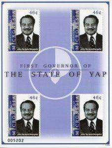 Micronesia Stamps 2013 MNH 1st Governor State Yap John De Avila Mangefel 4v M/S