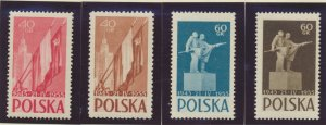 Poland Stamps Scott #676 To 679, Mint Never Hinged - Free U.S. Shipping, Free...