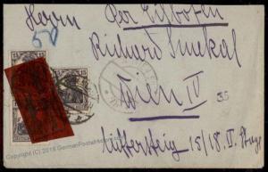 Germany Revolution-era 1918 Express Rohrpost Cover Vienna Pneumatic 72612