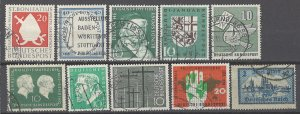 COLLECTION LOT # 1978 GERMANY 10 STAMPS 1924+ CV+$22