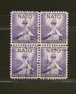 USA 1008 NATO Block of 4 Used