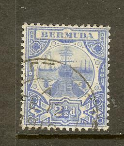 Bermuda, Scott #38, 2 1/2p Dry Dock, Wmk 3, Used