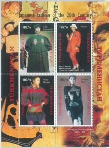 1938 - TURKMENISTAN, MINIATURE SHEET: Japanese Fashion, Kenzo, Yamamoto, Mori