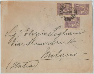 58349  -  ROMANIA - POSTAL HISTORY: COVER to ITALY - 1922