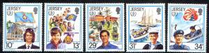 Jersey Sc# 356-360 MNH 1985 Girl Guides