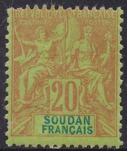 FRENCH SUDAN 1894 PEACE & COMMERCE 20C