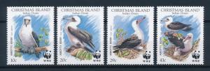 [53675] Christmas Island 1990 Birds Vögel Oiseaux Ucelli WWF Abbott Booby MNH