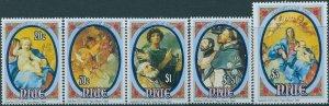 Niue 1993 SG774-778 Christmas set MNH
