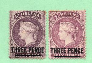 Saint Helena - SG# 41 (crease) & 42 MH / wmk crown CA / Perf 14  -  Lot 1118280