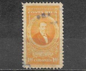 Costa Rica Stamp Scott #C90A Bruno Carranza 1.40 Colones Used