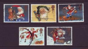 Great Britain Sc 1776-0 1997 Christmas stamps used