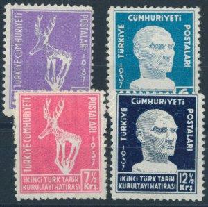 TURKEY/1937 - Second Turkish Historical Congress COMPLETE SET, MNH
