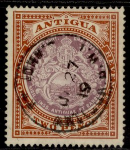 ANTIGUA EDVII SG45, 2d dull purple & brown, VERY FINE USED. Cat £32. CDS