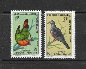 BIRDS - NEW CALEDONIA #345-6  MNH