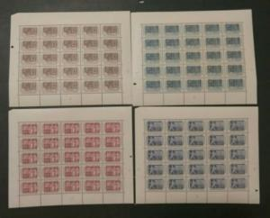 #336-9 1953 Centenary - MINT (Never Hinged) full sheets cv$2,700.00