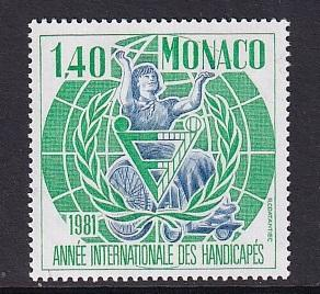Monaco  #1281     MNH  1981  international year of the disabled