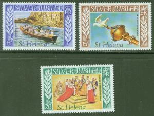 Saint Helena Scott 311-313 MH* QE2 25th Anniv of Reign set