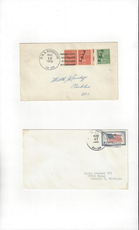 US Navy Covers USS Rochester CA 124