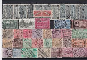 belgium railway parcels stamps ref r11791