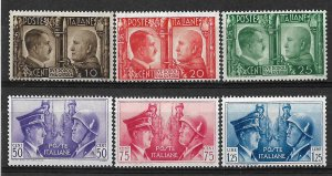 COLLECTION LOT OF # 844 ITALY # 413-8 MH 1941 CV+$34
