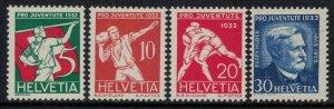 Switzerland #B61-4* NH  CV $9.50