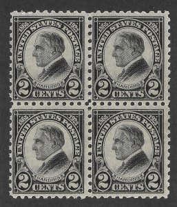 Doyle's_Stamps: MNH 1923 Warren G. Harding Perf 10 Block, Scott #612**