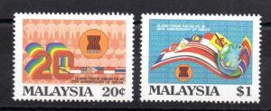 Malaysia 1987 20th Anniversary ASEAN MNH set WS6000