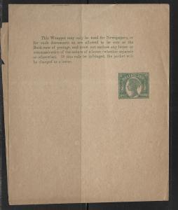 Queensland Postal Stationery Wrapper H&G 2 Unused