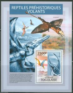 TOGO 2013 PREHISTORIC FLYING ANIMALS   SOUVENIR SHEET MINT NH