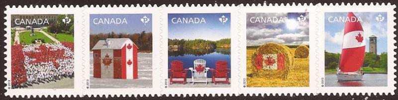 Canada - Scott# (014 - MNH Strip) 2616i (2013) VF Permane...