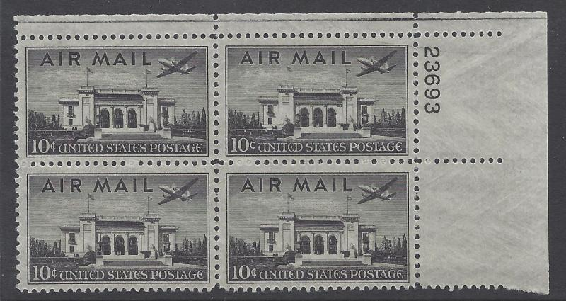 C34 Plate block 10cent Pan American Union Building Washington DC Martin 2-0-2