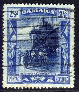 Jamaica 1919 - 21 KGV 2 1/2d Return of war Contingent Used SG 82a ( L1056 )