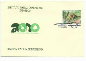 DOMINICAN REPUBLIC 2010 YEAR OF BIODIVERSITY NATURE CONSERVATION FAUNA FDC