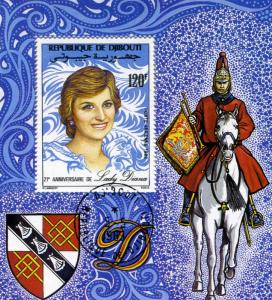 LADY DIANA Anniversary Souvenir Sheet Perforated Fine Used