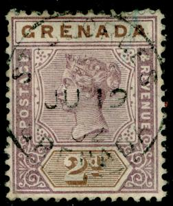 GRENADA SG50, 2d mauve & brown, USED. Cat £26.