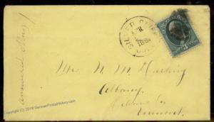 USA 1881 Colorado SILVER CLIFF COLO Custer County Cover 88114