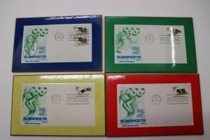 Fleetwood FDC set encased frame wall hang Olympics 1972 airmail US#C85 1460-1462