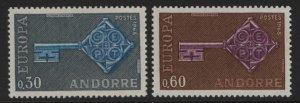 ANDORRA, 182-183, MNH, 1968, EUROPA