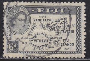Fiji 154 Map of the Islands 1954