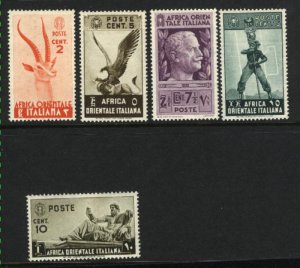 Italian East Africa 1-5  Mint NH VF 1930 PD