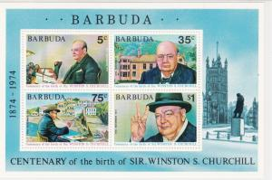 Barbuda Sir Winston Churchill Centenary of Birth MNH Mini Stamps Sheet Ref 27103