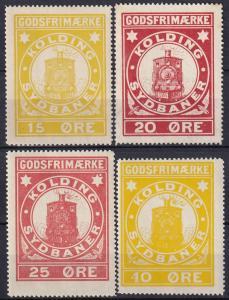 Denmark Kolding  Unused Railway Stamps  Z898