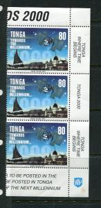 Tonga 1996 Sc 940b Strip of 4 MNH Towards the Millennium 5602