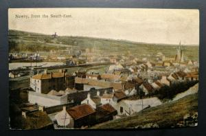 1914 Newry South East to Dublin Ireland County Down Real Picture Postcard Cover