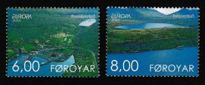 Faroe Is. Water Resources Europa CEPT 2v SG#413-414 SC#401-402