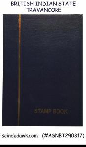 COLLECTION of British Indian State TRAVANCORE COCHIN in Small Stock Book